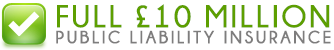 We are PLI insured to £10 million